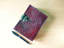 Skull Leather Journal Notebook Diary notepad Scrapbook Gift