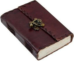 Small 1842 Poetry Genuine Leather Journal Book   with lock -