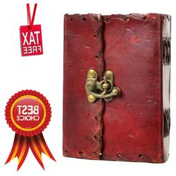 Small Pocket Poetry Leather Cover Blank Book Notebook Diary