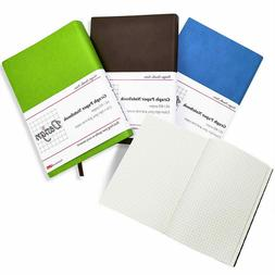 Thick 400 Pages Graph Paper Leather Notebook Soft Cover A5 G