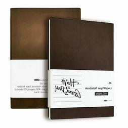 Thick 400 Pages Lined Paper Leather Journal Soft Cover A5 Li