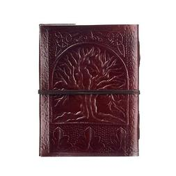 Tree of Life Leather Journal, 125 Unlined Recycled Paper Pag