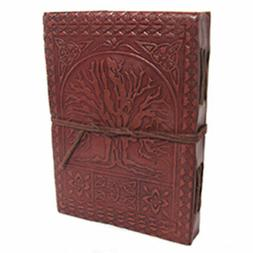Tree of Life Leather Journal with Cord NEW Handmade Embossed