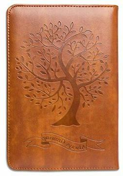 Tree Writing Journal by SohoSpark, Refillable Faux Leather,