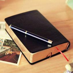 US Vintage Thick Blank Paper Notebook Notepad Leather Journa