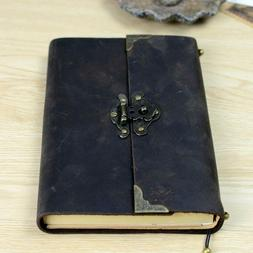 Vintage Antique Leather Journal Travel Diary Classic Soft Le