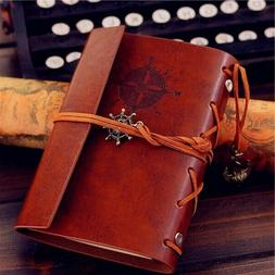 Vintage Classic Retro Leather Journal Travel Notepad Noteboo