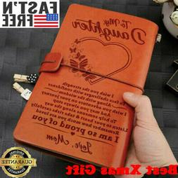 Vintage Engraved Leather Journal Notebook Travel Business Di