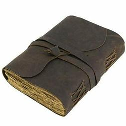Vintage Leather Journal Lined Pages - Leatherbound Journal -