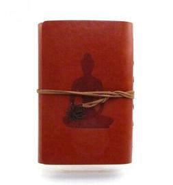 YOGA LADY Leatherette Diary Journal Brown Leather Tie Closur